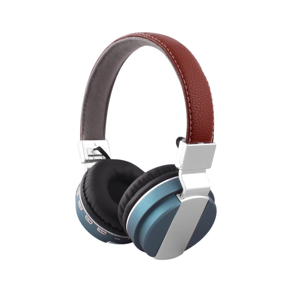 Alltrum Foldable Over-Ear Wireless Headphone,Built-in Mic, Stereo Sound,Lightweight,Comfortable Wearing Feeling,Noise Reduction,SD Card,Wired Modes Phone/PC / Tablets, Blue10