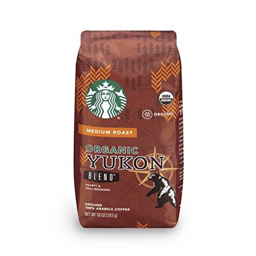 Starbucks Organic Yukon Blend Medium Roast Ground Coffee, 10-Ounce Bag (Pack of 6)