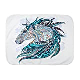 Royal Lion Baby Blanket White Maverick Patterned Horse