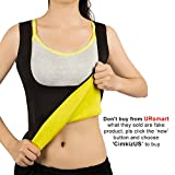 Women Hot Sweat Vest Neoprene Sauna Vest For Weight Loss Tummy Fat Burner Slimming Shapewear Hot Thermo Body Shaper Sweat Tank Top Black No Zip XXL