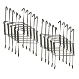 Xinlinke 10 Pcs 8-Inch Medium Size Invisible Plate Wire Hanger Wall Holders with Protective Rubber Cover for 7.5'' to 9.5'' Decorative Tray