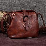 Best DR Messenger Bags - Retro Bag Cowhide Handbag Mini Bag Small Bag Review