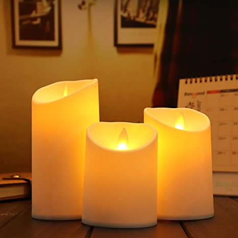 Luminara Flameless LED Tea Lights Ivory Candles Moving Wick with Timer Remote