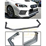 JDM V-LIMITED Style Polypropylene PRIMER BLACK Front Bumper Lower Lip Spoiler Ground Effects Replacement For 2018-Present Subaru Impreza WRX & STi