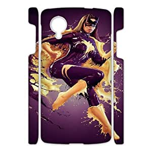 Paint Girl HILDA084601 3D Art Print Design Phone Back Case Customized Hard Shell Protection Google Nexus 5