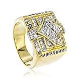 Best JOTW Man Jewelries - Men's Goldtone Iced Out Square & Diamond Shapes Review