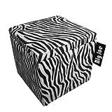 Big Joe Square Storage Ottoman, 15-Inch, Zebra