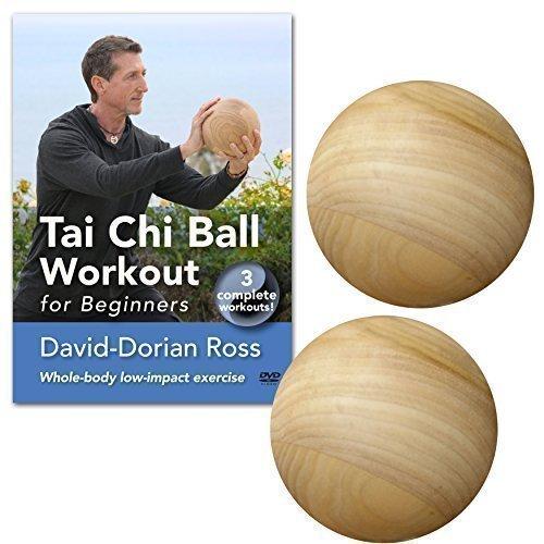 BUNDLE: Tai Chi Ball Workout DVD and two wood starter tai chi balls (YMAA Tai Chi Fitness) David-Dorian Ross **BESTSELLING NEW STARTER PACK**