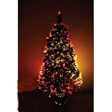 multicolour changing lights 4ft fibre optic tree