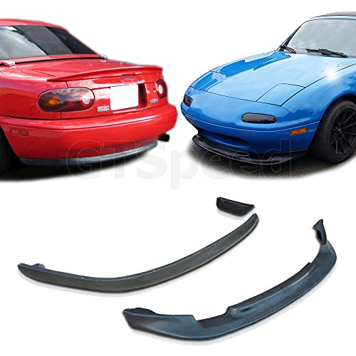 GT-Speed 2x Combo for 1990-1997 Mazda Miata GV Front + RS Rear PU Bumper Lip