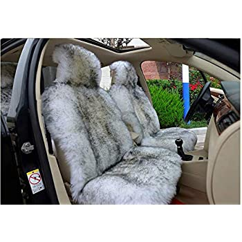 Outstanding Amazon Com Mycutie Luxury And Noble Fluffy Wool Car Seat Inzonedesignstudio Interior Chair Design Inzonedesignstudiocom