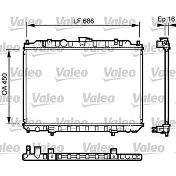 VALEO Engine Cooling Radiator 735063 Fits NISSAN X-Trail Suv 2001-