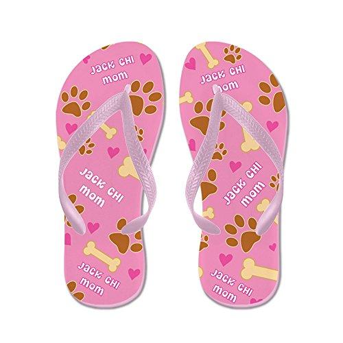 Cafepress Jack Chi Moeder Cadeau Flip Flops - Flip Flops, Grappige String Sandalen, Strand Sandalen Roze