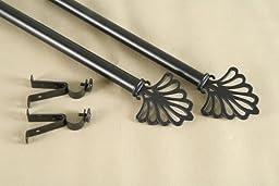 Modern Fan Curtain Rod and Hardware Set Size: 120\
