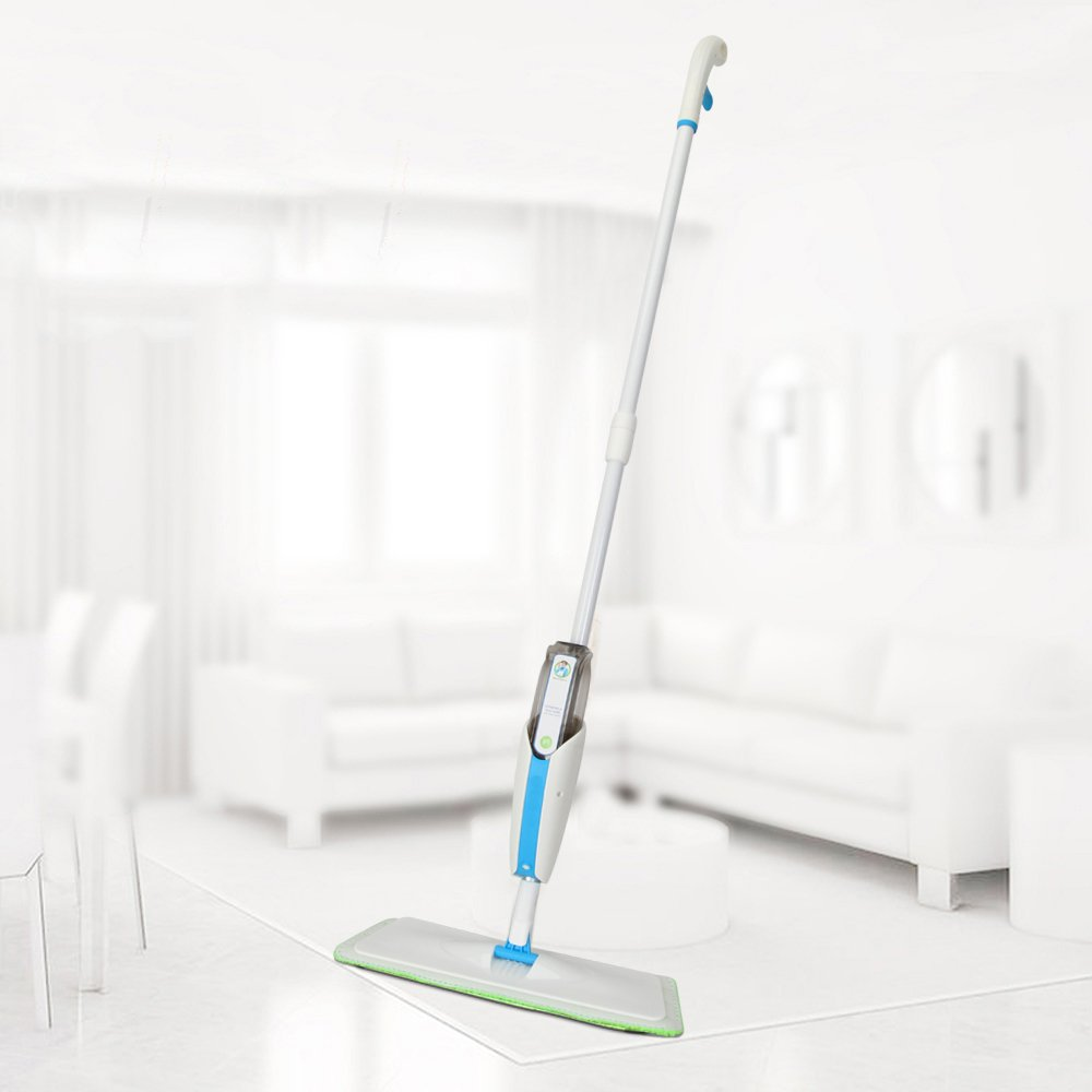 MangGou Microfiber Floor Mop, Professional 360 Degree Microfiber Spray Mop Kit, Handle Cleaning Mop with Hybrid Carbon Microfiber for House, Kitchen, Hardwood, Tile Floor Cleaning by MangGou (Image #2)