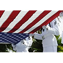 Sailors assigned to Joint Base Pearl Harbor-Hickam Navy Detachment honor guard present the national