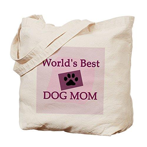 CafePress–Bolsa de transporte perro de mejor mamá del mundo–Gamuza de bolsa de lona bolsa, bolsa de la compra