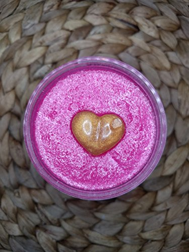 (Caribbean Cherry, 8 oz, Foaming Sugar Scrub, Cruelty Free, Black Cherry Scented, Gift for Her, Biodegradable Glitter, Glycerin Soap Heart)