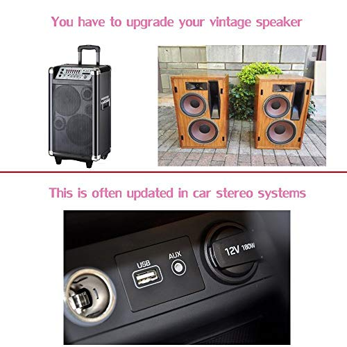 ISAIBELL Audio Music Receiver, Bluetooth Car Kit Mini USB Wireless Audio Adapter Bluetooth Music Receiver & Adapter 3.5mm Stereo Output for Headphones Portable Speakers and Car Stereo Systems
