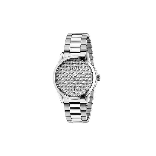 Reloj Gucci Hombre ya126459 al cuarzo (batería) acero quandrante acero correa acero: Amazon.es: Relojes