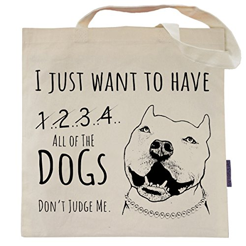 Funny Dog Tote Bag by Pet Studio Art (Casual Tote, All the Dogs)