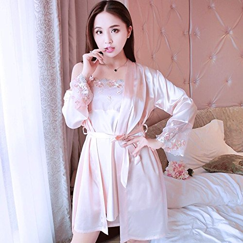 Dressing with Gowns 2pcs Strap Ladies Set Size Watermelon Wanyne Strap Dressing Summer Color with Dress Red Pearl Lace Dress Gowns Sexy XL gxFwAqq