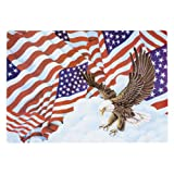 Hoffmaster 998844 Placemat, 14'' Length x 9-3/4'' Width, Patriotic Flags (Case of 1000)