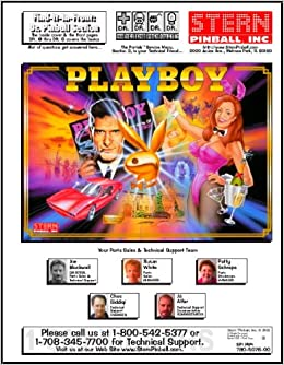 Playboy Pinball Service & Repair Manual (Stern): Stern