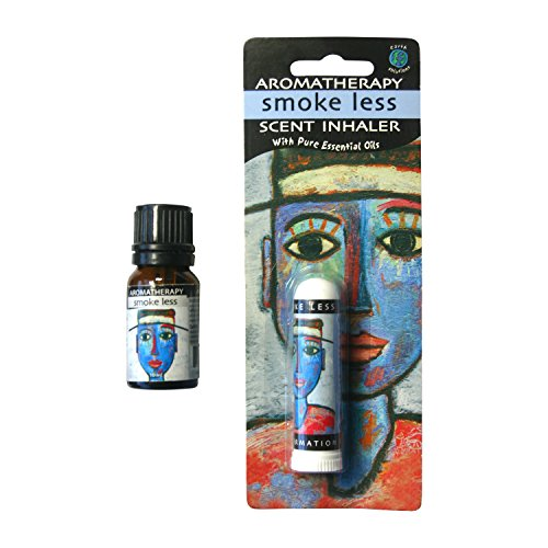 Earth Solutions SmokeLess Aromatherapy Inhaler and 10ml Affirmation Oil Kit. Includes an Oil Blend plus an Affirmation to Help Quit Smoking, Clear the Lungs and Control the Urge to Stop Smoking (Inhaler Stay)