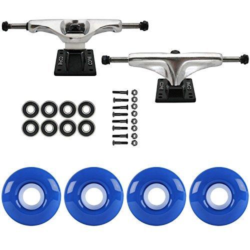 スケートボードパッケージCoreシルバー5.0 Trucks 51 mm TrueブルーABEC 7 Bearings [並行輸入品]   B078WVTC4T