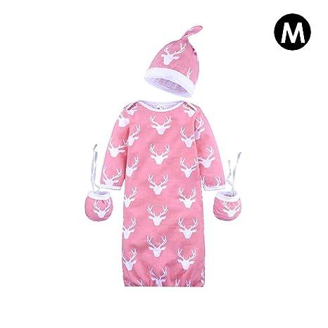 Per 3pcs Saco de Dormir + Sombrero + Guantes Invierno para Bebés Recién Nacidos de Algodón
