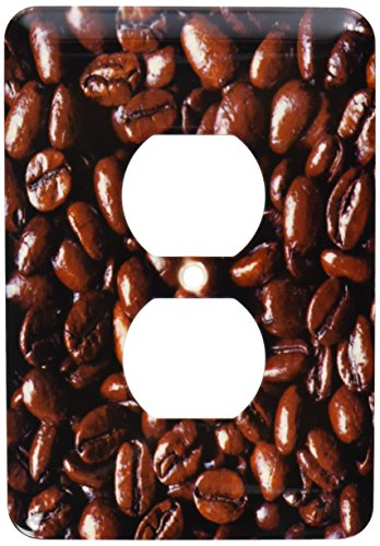 3dRose lsp_94095_6 Oregon Bend. Dark Brown Coffee Beans 2 Plug Outlet Cover, Multicolor