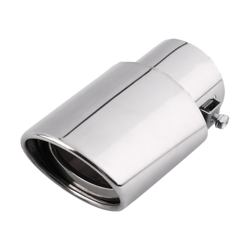 BODYART Car Rear Round Exhaust Pipe Tail Muffler Tip For Universal Car, Chrome Stainless Steel TS Trade