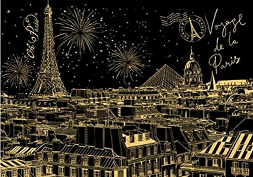 BAIXI City Night Scene Painting Diy Scratch Art Paper Gift Creative Birthday Gift,Scratch boards (London) by BAIXI