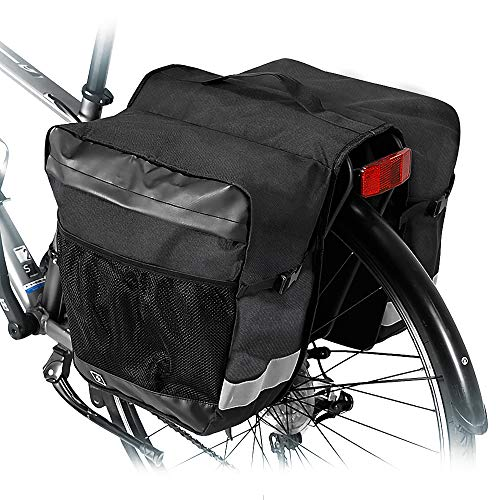 Allnice Pannier Bag 28L Water Resistant Bike Rear Seat Trunk Bag Bicycle Rear Saddle Panniers Accesories