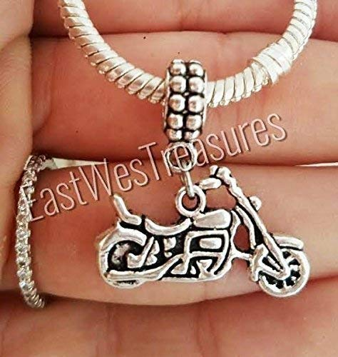 (Motorcycle Motorbike biker Charms Pendant-For charm bracelets and chain necklaces)