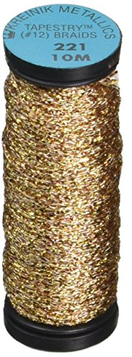 Cord Metallic Kreinik - Kreinik No.12 Metallic 10m Tapestry Craft Braid, 11-Yard, Antique Gold