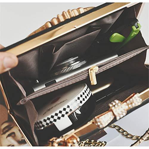 Cadena Bandolera Chica Hombro Niña Mano Pequeño De Negro Bolsos Handbag Shopper Cuero Hf Casual Bolso Morning Impermeables gq0F40
