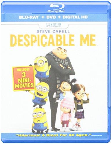 Despicable Me (Blu-ray + DVD + Digital HD + The Secret Life of Pets Fandango Cash)