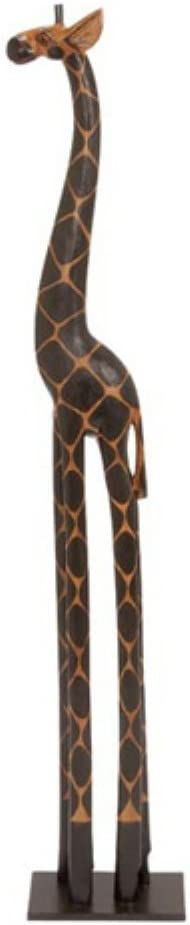 Amazon Com 3 Foot Tall Hand Carved Wooden African Baby Giraffe Statue Sculpture Home Kitchen