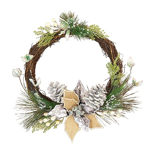 Silver and Pine Accented Twig Wreath