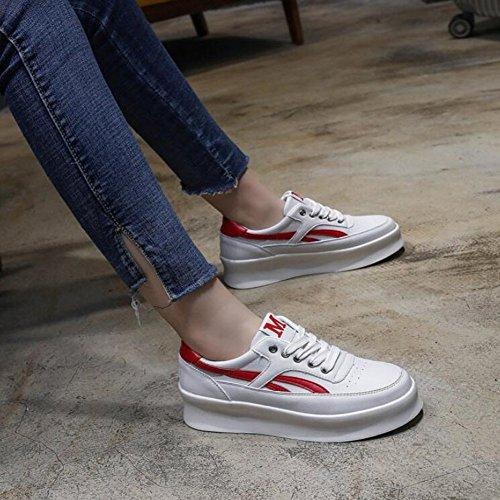 Zapatos Mujer Azul Negro Casual Al Zapatos de de Primavera Comodín Plataforma Moda Rojo Planos Zapatos Rojo Aire Salvaje Deportes Mujer Nuevo de Libre GAOLIXIA Zapatos de qtBvgPt