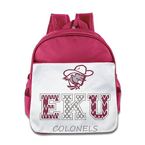 BestGifts Custom Personalized Eastern Kentucky University Boys And Girls School Bagpack For 1-6 Years Old Pink