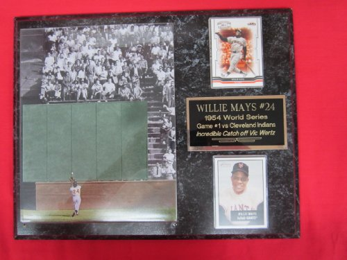 - Willie Mays World Series Catch 2 Card Collector Plaque w/8x10 RARE Photo #1