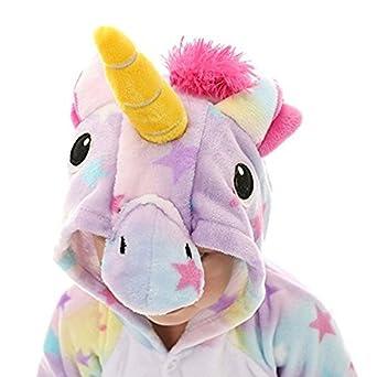 KiKa Monkey Bambini Unicorno Cartoon Flanella Animal novit/à Costumi Cosplay Pigiama