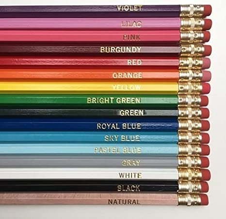 Express Pencils Personalized Pencils Hexagon Custom Imprinted 20 Piece Pkg Free Perzonalization White