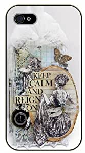 iPhone 5C Keep calm and reign on - black plastic case / Keep calm, funny, quotes, retro, vintage