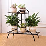 LQQGXL European-style iron flower racks indoor and outdoor multi-layer flower stand Flower stand ( Color : Black )