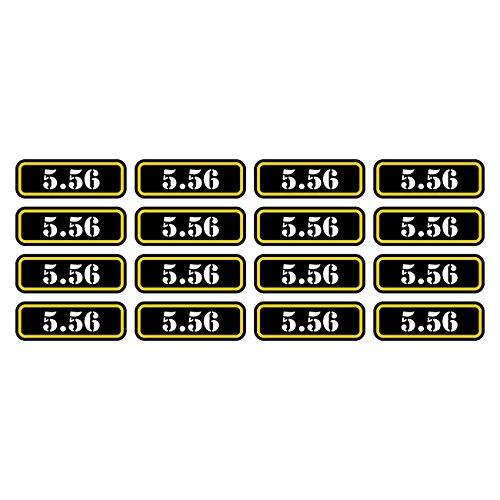 (16x) 5.56 Ammo Can Sticker Set Decal Self Adhesive molon labe bullet 556 FA Graphix