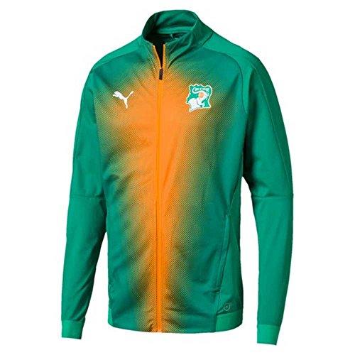 PUMA 2018-2019 Ivory Coast Stadium Jacket (Pepper Green) ()